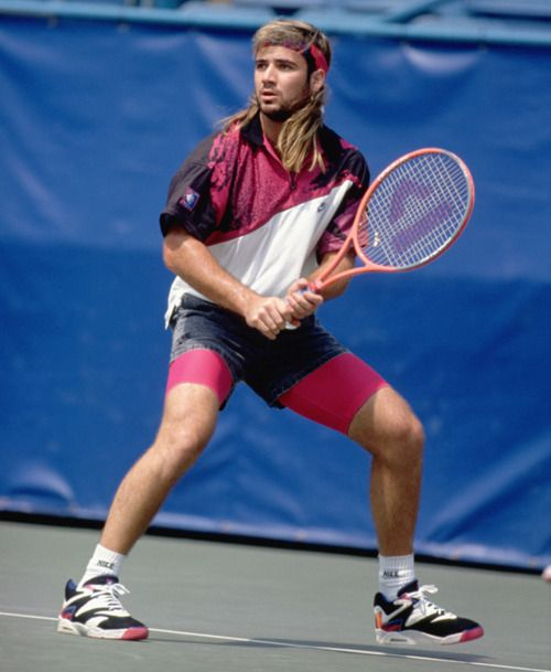 andre agassi 90's outfit