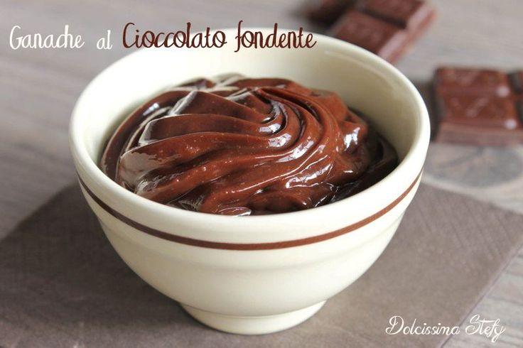 Una golosissima ricetta per oggi..la Ganache al cioccolato fondente,buonissima per farcire i vostri dolci e crostate..una vera delizia,posso assicurarlo ;)