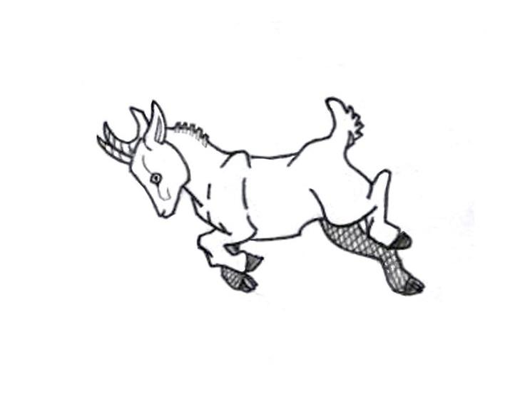 baby goat tattoo :D