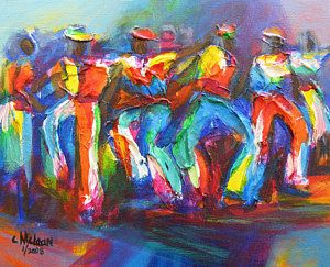 Trinidad Painting - Carnival Jump Up by Cynthia McLean