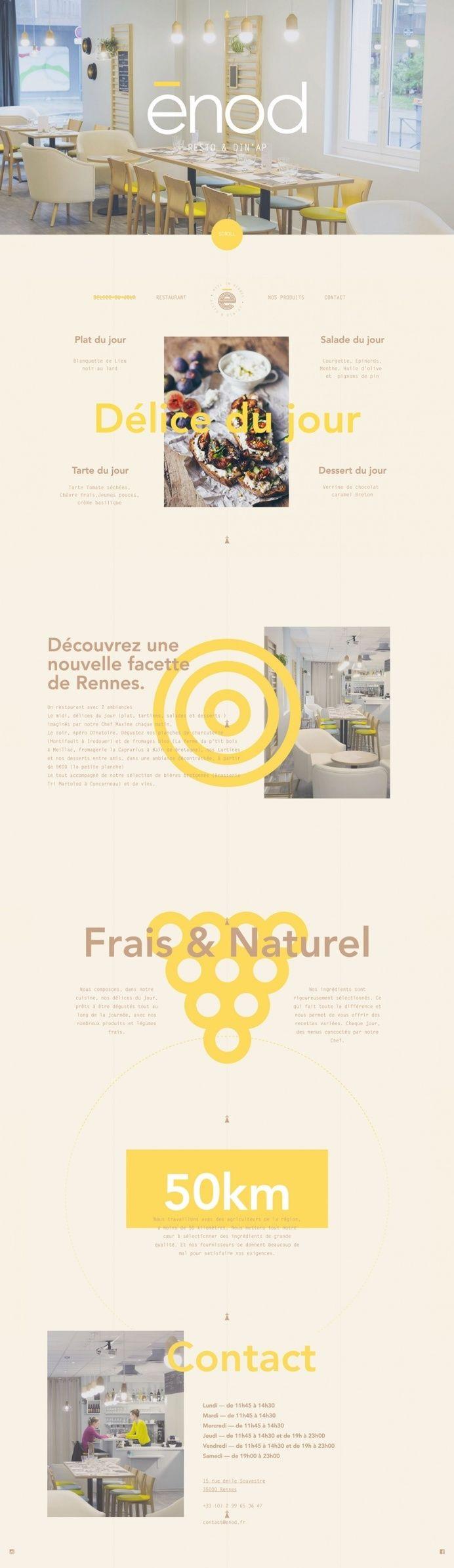 enod restaurant france paris webdesign beautiful branding best inspiration mindsparkle mag designblog award beauty beautiful new modern yell