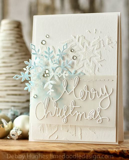Wow!!! I'm blown away by the beauty, elegance and sophistication of this card!!!! *SWOON* Best Christmas card I've ever seen!!! ❤️