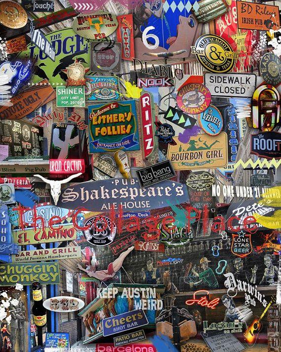 Keep Austin Weird Sixth Street Weird Austin Tx Art Series