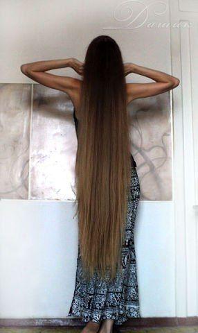 Длинные волосы богини! Very long hair