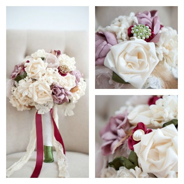 Fabric Flower Bouquet from Mark the Occasion Designs