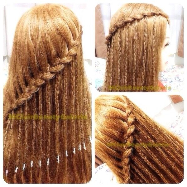 My Hair Journey: Waterfall braid with strands of braids