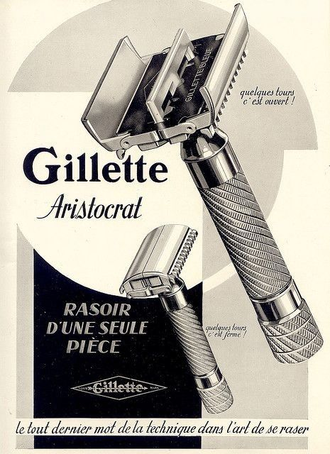 Old Gillette Advertisement