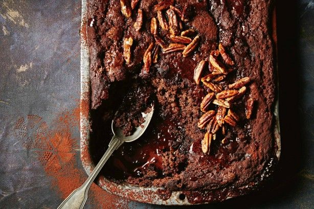 The intense choc hit of this self-saucing pudding transforms a classic brownie base into a luxe dessert!