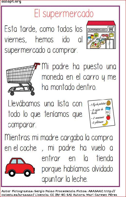 Ficha de lectura - El Supermercado #LecturaComprensiva