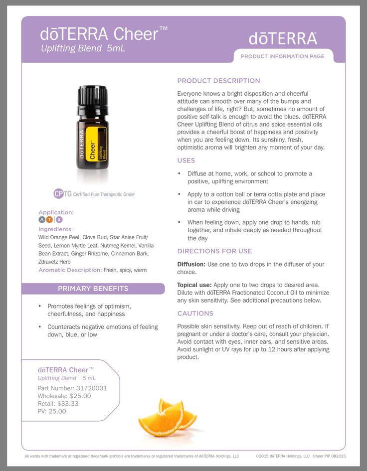 DoTerra Emotional Aromatherapy CHEER
