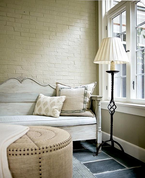 Белая кирпичная стена в интерьере, white-brick-wall, http://interiorizm.com/white-brick-wall