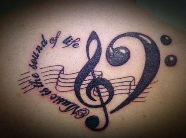 Unique Music Tattoo Design Ideas For Music Lovers (14)