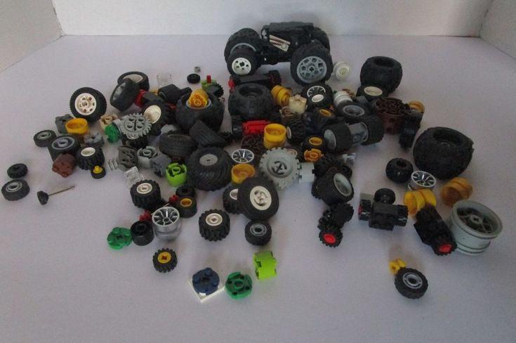 1 Pound Bulk Lego Wheels Round Circular Pieces Parts Miscellaneous City Vehicle #Lego