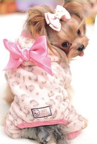 Winter dog clothes Leopard dog clothes