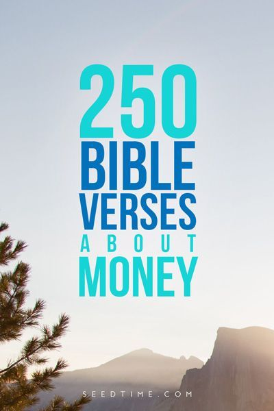 Awesome list (and FREE PDF) of 250 bible verses about money and finances...