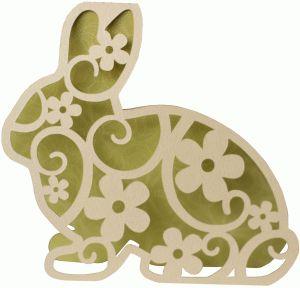 Silhouette Design Store - View Design #75468: bunny flourish shape card