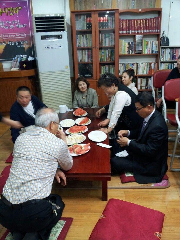 인천에서 모임중 다과회