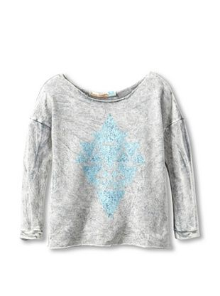 70% OFF Vintage Havana Girl's Mineral Wash Aztec Sweatshirt (Grey)