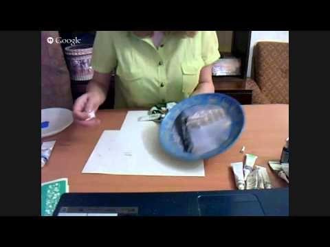 Декупаж и точечная роспись керамической тарелки