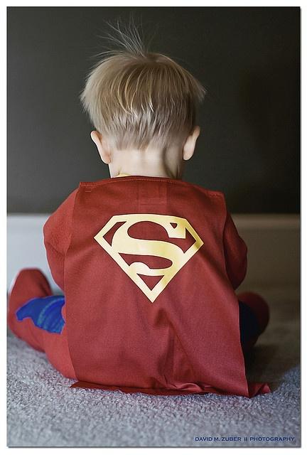 My Little Superman by David M. Zuber #Superman #David_M_Zuber #Photography