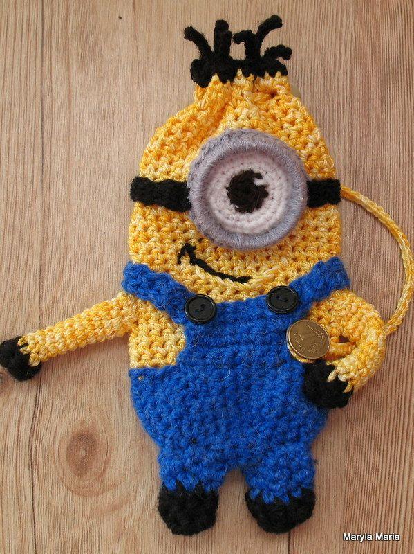Minionek - sakiewka / szydełko // Minionek - purse, crochet hook