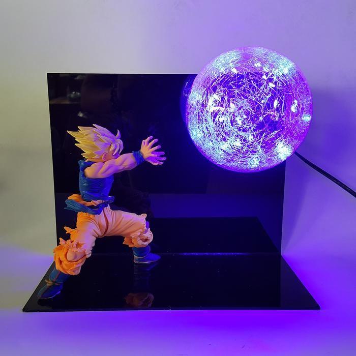 Dbz Son Goku Super Saiyan Kamehameha Wave Flash Ball Diy 3d Led Light Lamp Dbz Dragonball Lamp Dragon Ball Goku 3d Led Light Dragon Ball