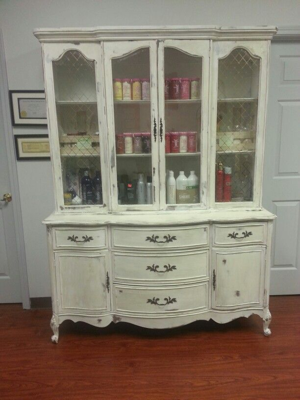 Found this 2 peice beauty and thought it was perfect for my hair salon. I am in love.
