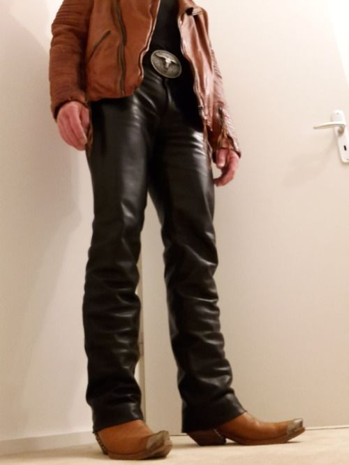 That man have a leather dream