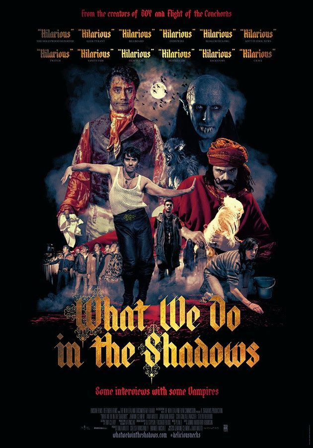 Os mostramos el nuevo poster promocional de What We do in the Shadows, la esperada película de Jemaine Clemente y Taika Waititi