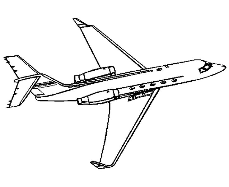Picture Of Airplane Coloring Page
