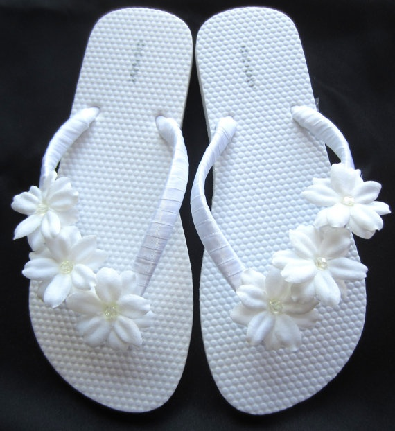 """""""Briana"""" white sandal - perfect for bride, weddings - $20... Maybe I could wear something like that :)"""