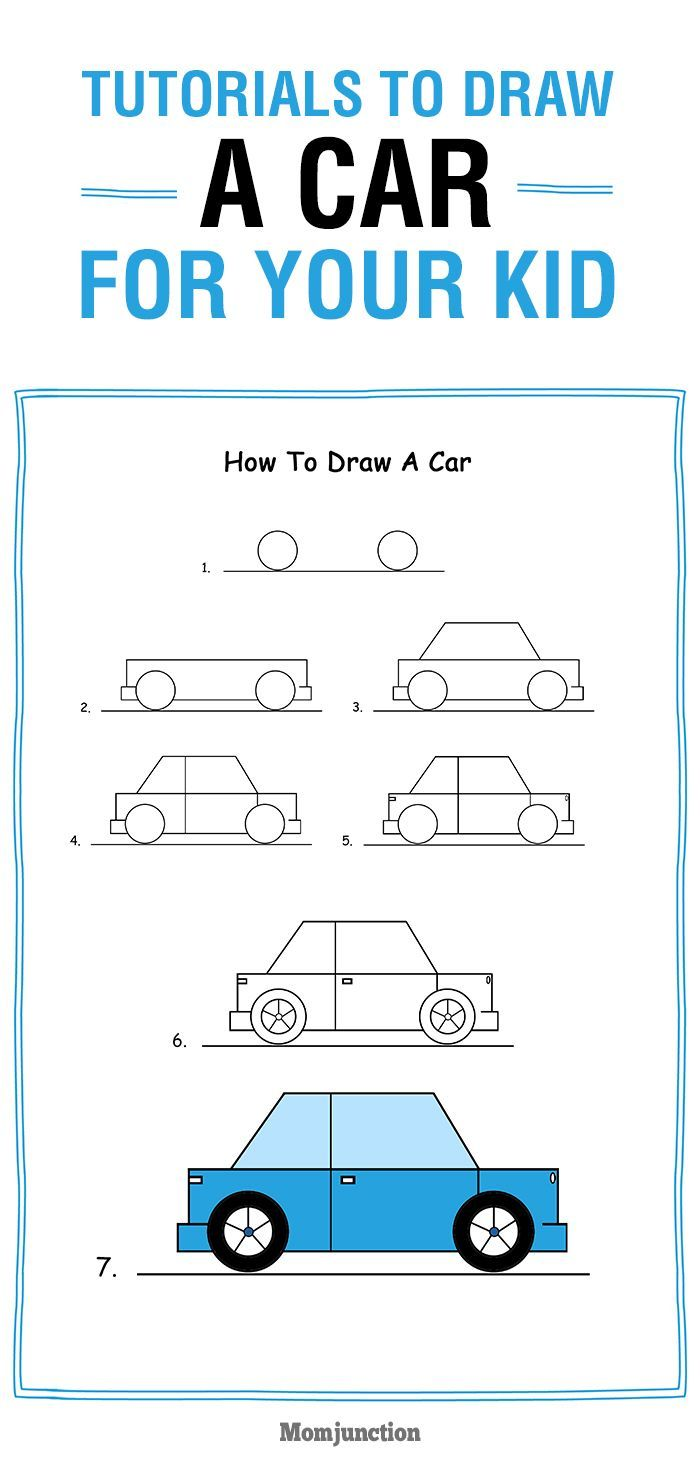 Here are some simple tutorials on how to draw a car for kids. Help him learn drawing race, sports, flying cars and more. They are super easy and fun to do.