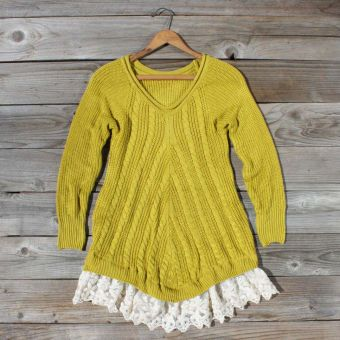 Spun Straw Lace Sweater, Sweet Bohemian SweatersMustard Sweaters, Style, Straws Lace, Spun Straws, Lace Sweaters, Woman Clothing, Fall Sweaters, Products, Bohemian