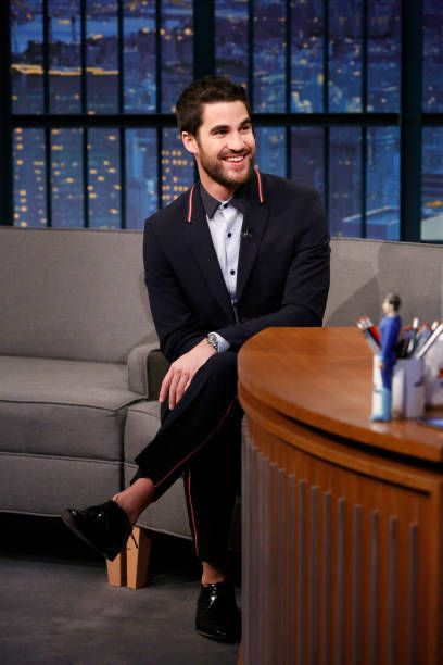 Actor Darren Criss during an interview with host Seth Meyers on January 29, 2018