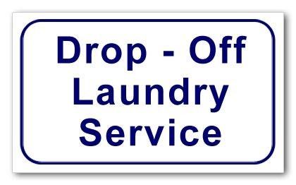 Sign - Drop-Off Laundry Service