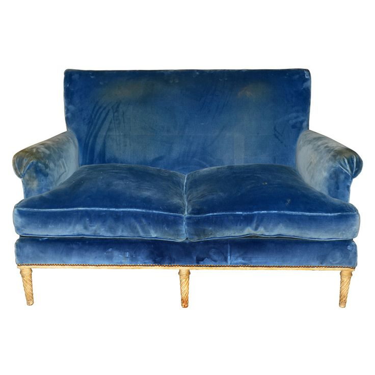 1940s Two Seater Canapé By Carlhian  Velvet X Tracy Porter. Poetic  Wanderlust
