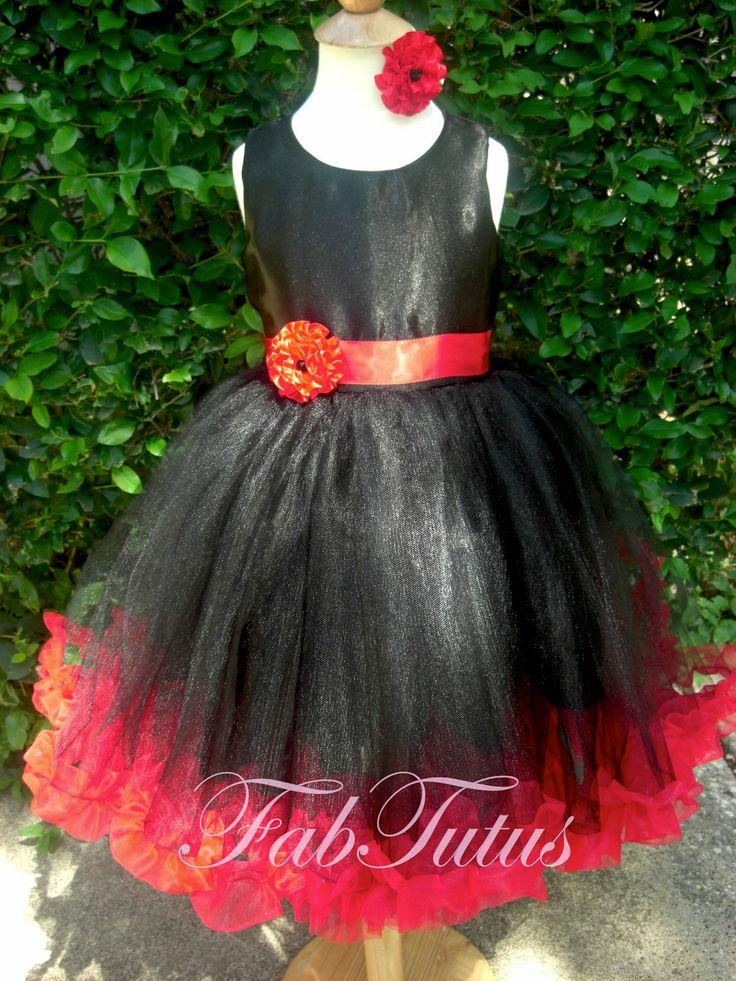 10 best flower girls images on pinterest dresses for girls girls black and red flower girl tutu dress mightylinksfo