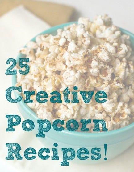 25 Creative Homemade Popcorn Recipes #creative #popcorn #recipes