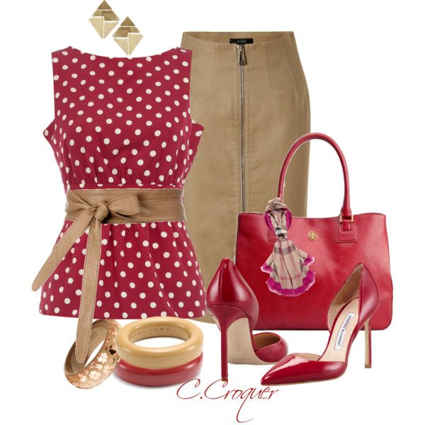Raspberry Simple but Chic!, created by ccroquer on Polyvore