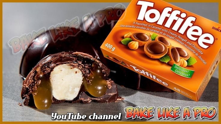 Inside Out Toffifee Recipe   Chocolate Salted Caramel Hazelnut Tutorial ...