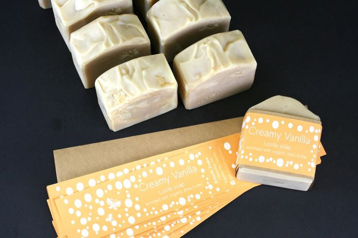 Wrapping Creamy Vanilla Loofa Soap. Natural gentle exfoliation with a heavenly scent and luxurious creamy organic Shea Butter.