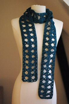 "Butterfly stitch scarf. A ""beginners"" scarf because it's so easy. I think it's pretty and light for spring or summer."