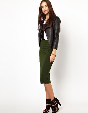 shopstyle.com: Glamorous Pencil Skirt In Textured Jersey