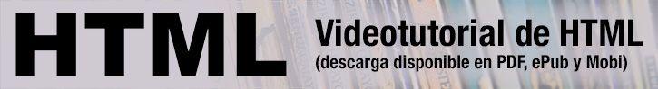 Videotutorial de HTML. Serie de vídeos que explican las distintas etiquetas del lenguaje y cómo crear sitios web completos: http://www.desarrolloweb.com/manuales/video-tutorial-html.html