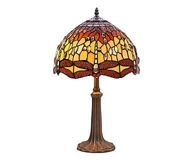 Lampada da tavolo in zinco e vetro Belle Amber, 30x50 cm