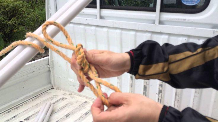トラック ロープの縛り方 アメリカン