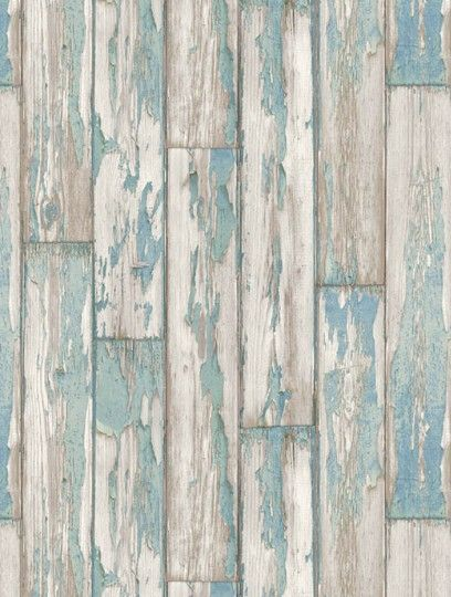 Clarke and Clarke's Peeling Planks is taken from the Wild Garden wallpaper collection and is in stock and available for purchase.