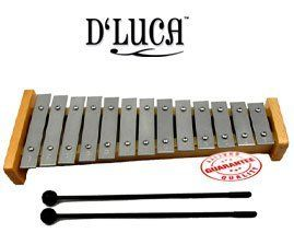 D'Luca 13 Notes Children Xylophone TL-13-2 by D'Luca. $25.00. The D'Luca 13 Notes Xylophone is a wonderful way to get kids interested in making music while teaching them the basics at the same time! Children will be able to learn 13 different keys using the individually metal bars to create real musical notes. They can create the own songs or use music cards to play the classic songs such as Happy Birthday Jingle Bells Twinkle Twinkle Little Star and more! Includes t...