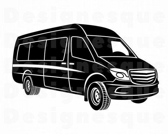 Van Svg Car Svg Auto Svg Vehicle Svg Van Clipart Van Etsy In 2021 Svg Van Car