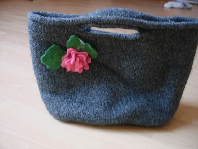 Filztasche Knitted And Felted Bag Pattern By Landlust